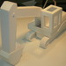 <p>Scale model of a real world object rendered in foam core.</p>